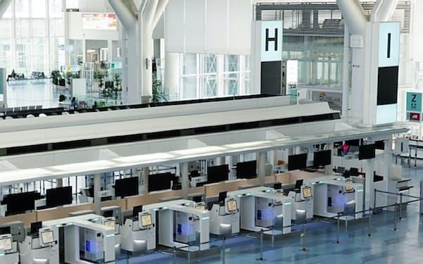 大型連休中も閑散としていた羽田空港の第3ターミナル(5月2日)