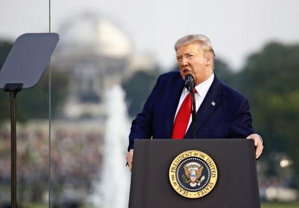 4日、トランプ米大統領は左派が自由を脅かしていると重ねて批判した(ワシントン)=AP