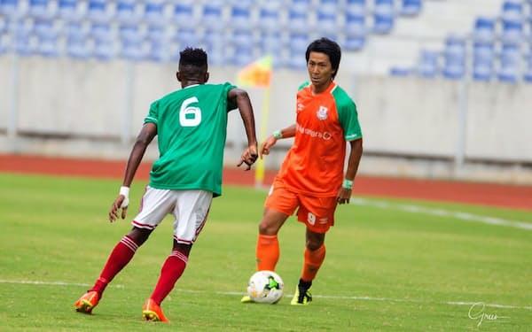 横浜Mのオファーを断り、昨季はアフリカ南部ザンビア共和国のチームでプレー。「自分の甘さを知ったし、やる気も出た」と話す