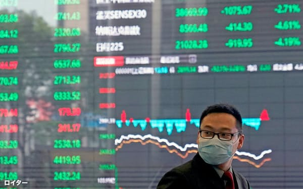 上海総合指数は7月に入り上昇が続いている(上海証券取引所)=ロイター