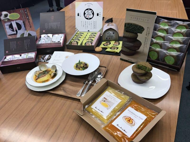 三重の食材を使った特製スープやスイーツなどの新商品が登場