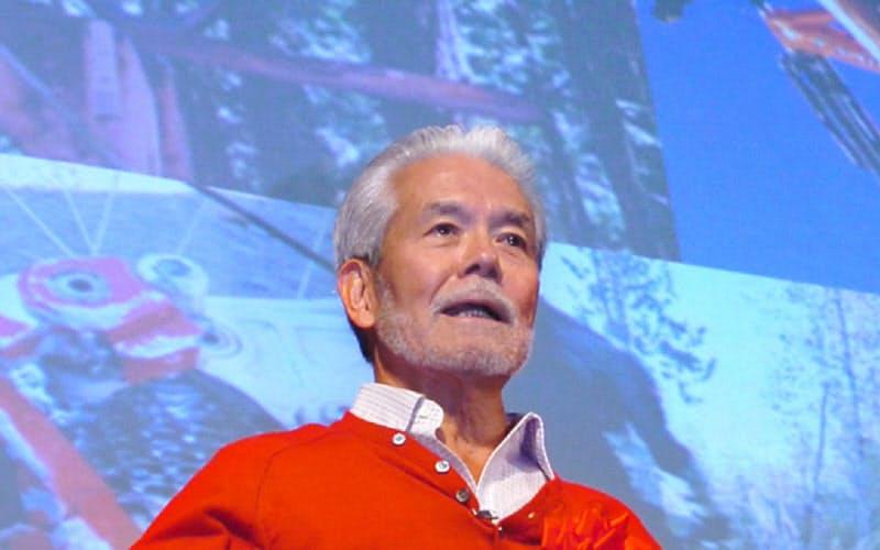 「ベンチャー2005KANSAI」で基調講演するシマノの島野喜三氏(2005年11月、大阪市北区)