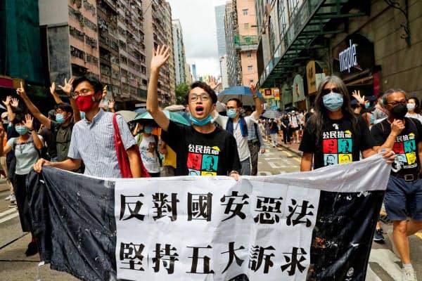 香港では「香港国家安全法」が住民の自由や権利を奪うとの懸念が高まっている(ロイター)