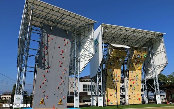 スポーツクライミングのオーストリア代表が事前合宿で利用する予定の「石鎚クライミングパークSAIJO」(愛媛県西条市)=同市提供