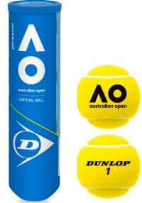 全豪オープンでも使われた住友ゴム工業のテニスボール=同社提供