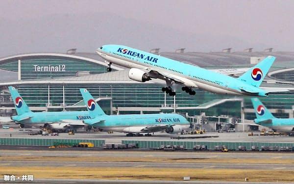 海外路線中心の大韓航空は路線の9割ほどが運休中=聯合・共同