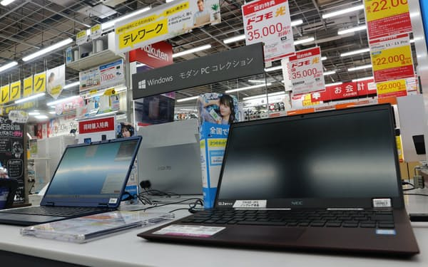 6月下旬はパソコンやテレビがよく売れたが……(東京・豊島のビックカメラ池袋本店パソコン館)