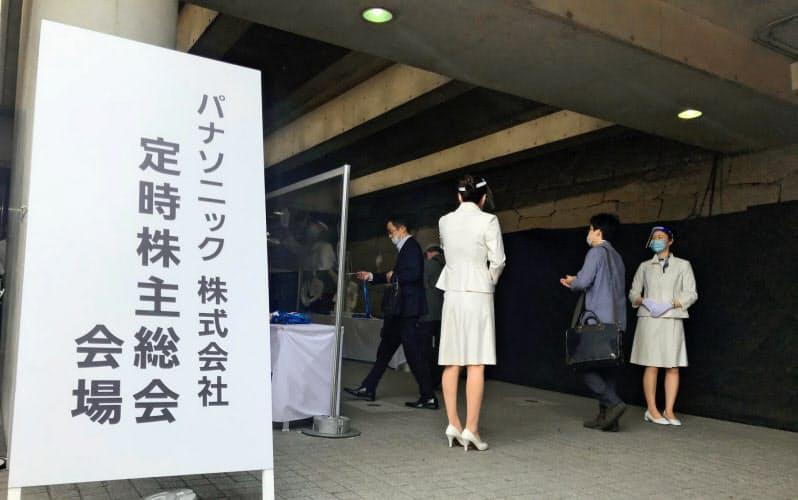 女性取締役を増やしたパナソニックはトップ選任案の賛成比率が上昇した(6月25日、大阪市)