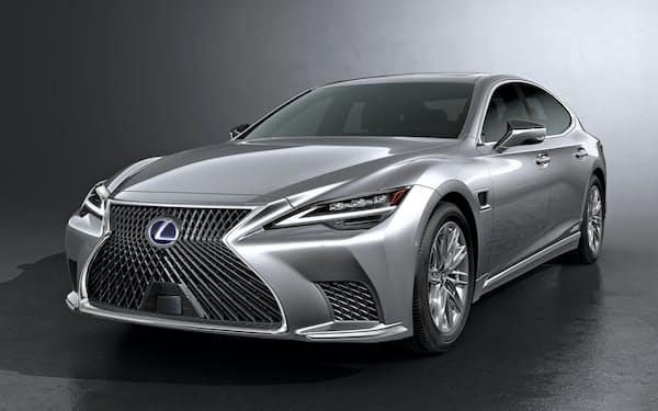 トヨタ自動車が7日に発表した高級車「レクサス」の最上級セダン「LS」の新型車。自動運転などの先進技術を結集させる