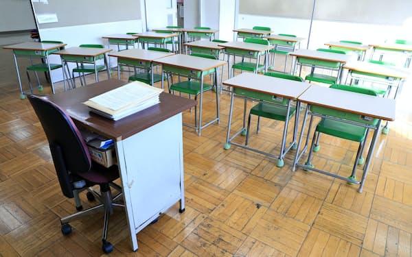 新型コロナウイルスの感染拡大で休校した小学校(3月9日、東京都港区)