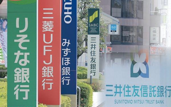 三菱UFJFG、三井住友FG、みずほFG、りそなHD、三井住友トラストHDの大手銀行5グループが人材を送り出す