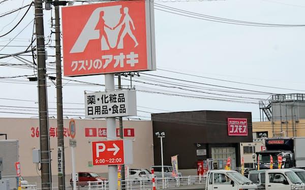北陸ではコスモス薬品などが店舗を増やしている(富山県高岡市)