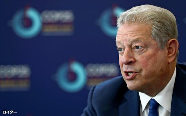 アル・ゴア元米副大統領はモラル・マネーの単独インタビューに応じた(写真は19年12月)=ロイター