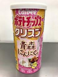カルビーが発売する「青森にんにく味」のポテトチップスクリスプ