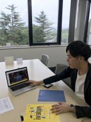 ブルーネスの吉尾輝大社長は業容拡大へオフィス内にクリエーター向けのワークスペースの設置を検討(仙台市)