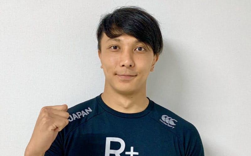 オンラインで取材に対応したラグビー7人制男子日本代表候補の松井千士=日本ラグビー協会提供