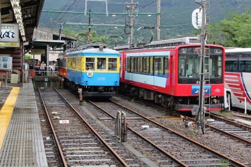 箱根登山鉄道は23日に全線運転を再開する(9日、箱根町)