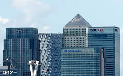 LIBOR廃止予定日まで1年半を切り、対応加速が迫られている(英ロンドンの新金融街カナリーワーフ)=ロイター