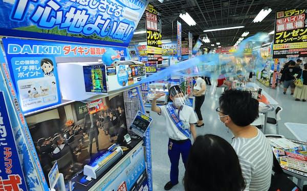 換気機能付きの機種に注目が集まる(ヨドバシカメラマルチメデアAkiba)