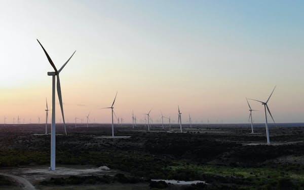 関西電力が参画する米テキサス州の風力発電所