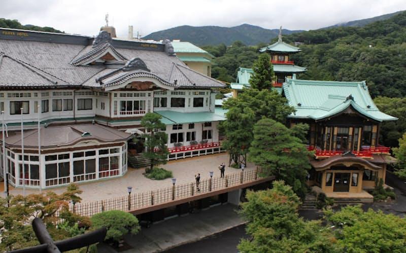 老舗の富士屋ホテルは15日に改装オープンするが、訪日客の宿泊予約はゼロだという(神奈川県箱根町)