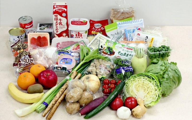 3日分の献立で使用する食材のイメージ(ベターホーム協会提供)