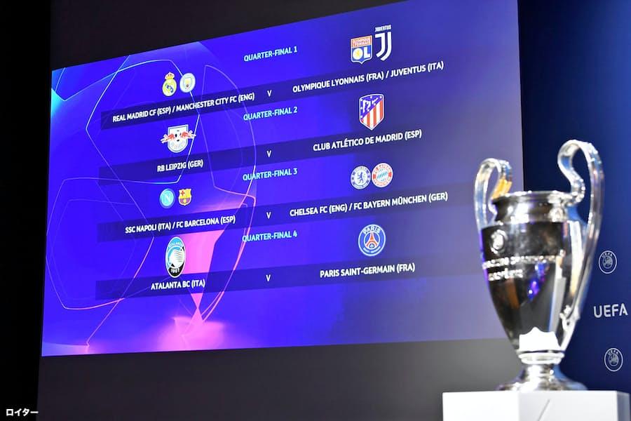 サッカー欧州CL、準々決勝の組み合わせ決定 8月再開: 日本経済新聞