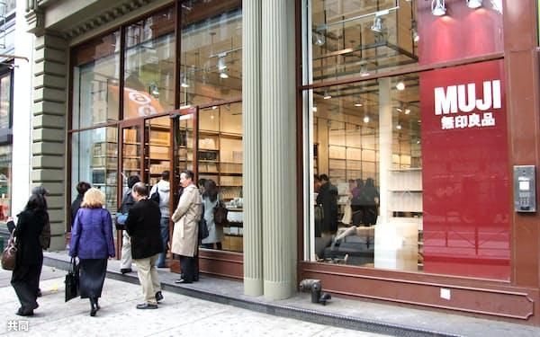 米国事業は世界での認知度を高める狙いがあった(ニューヨークの「MUJI」米国1号店)=共同