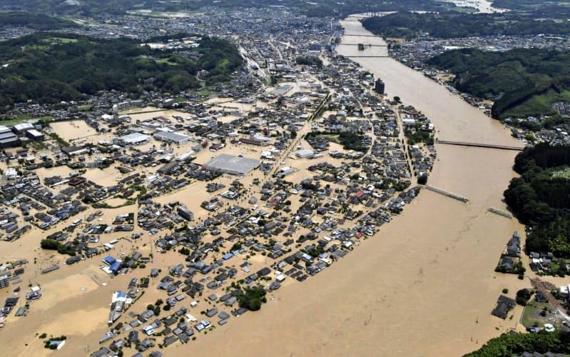 自治体の9割、浸水危険地域でも住宅立地 転出に遅れ