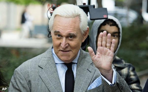 ロジャー・ストーン被告は2016年の大統領選でトランプ大統領の顧問を務めた=AP