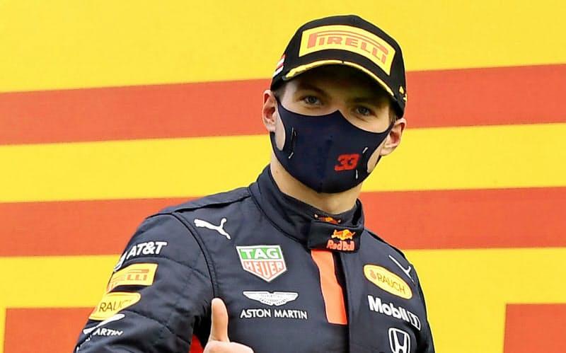 F1シリーズ第2戦で3位に入ったレッドブルのマックス・フェルスタッペン=ロイター