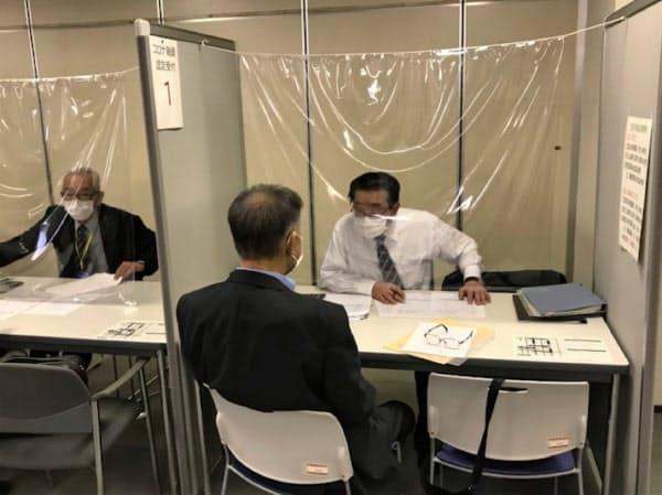 新型コロナウイルスの影響で企業の資金繰り相談が急増している(5月、札幌市)