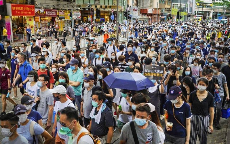 人権は「内政干渉」当たらず 香港巡る対中批判