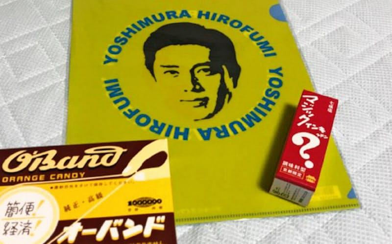 クリアファイルなど吉村知事の顔が入ったグッズが人気だ