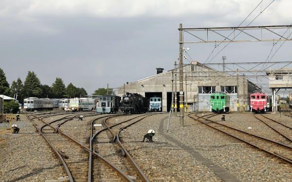 通常は立ち入り禁止の広瀬川原車両基地も見学できる(埼玉県熊谷市)