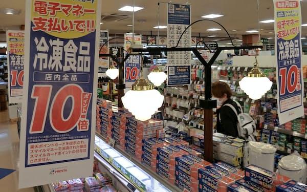 特定カテゴリーの商品で10倍のポイントを付与する(広島市のフレスタの店舗)