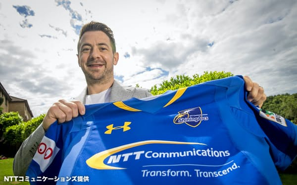 NTTコミュニケーションズに加入した元スコットランド代表主将のグレイグ・レイドロー(同社提供)