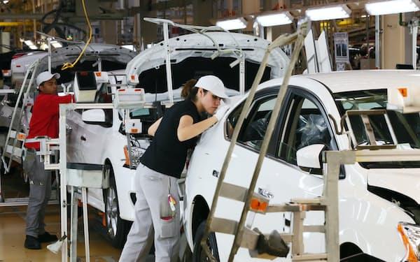 日本車はNAFTA時代にメキシコを北米の供給網の軸に据えていた(日産自動車のメキシコ工場)