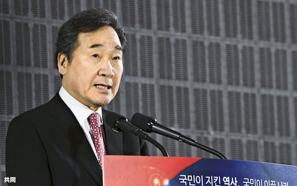 李洛淵前首相は韓国次期大統領選レースでも首位をひた走る(2019年4月、ソウル)=共同