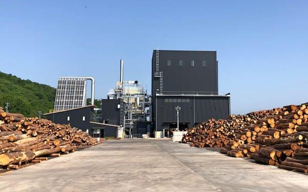 信州ウッドパワーの木質バイオマス発電所(長野県東御市)
