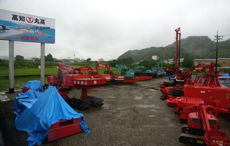 6月に開設した高知丸高の「防災機材センター)(高知県南国市)