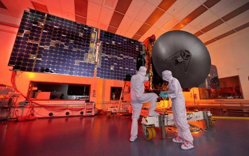 UAEが打ち上げる火星探査機=MBRSC提供