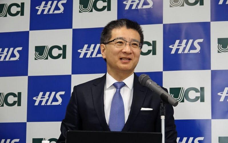 日本通信の福田尚久社長=石川 温撮影