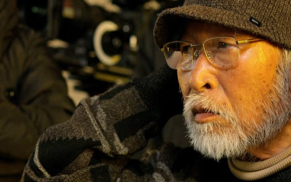 「ペコロスの母に会いに行く」撮影現場の森崎東監督                                                       (C)2013『ペコロスの母に会いに行く』製作委員会