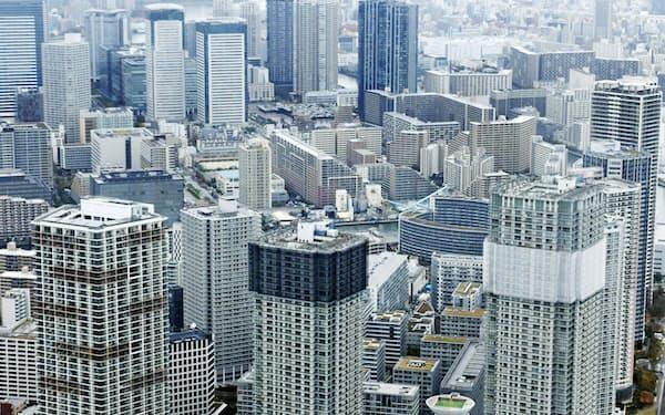都内の高層マンション群