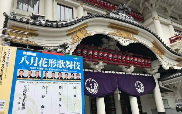 8月に再開予定の歌舞伎座(東京・中央)