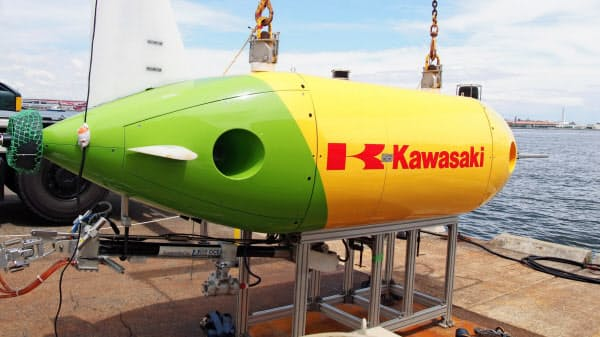 全樹脂電池が搭載された無人潜水機