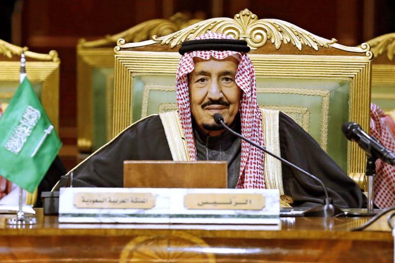 検査入院が発表されたサウジアラビアのサルマン国王=AP