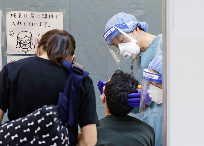 成田空港の検疫所(6月)=共同