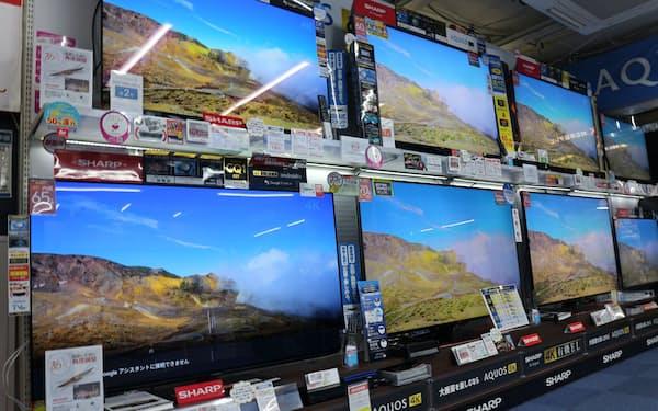 テレビは50型以上が市場の4割を占める